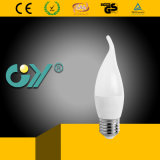 C37 6W E27 6000k LED Candle Tailed