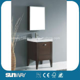 Hangzhou Floor Standingsolid W Ood Bathroom Furniture with Mirror