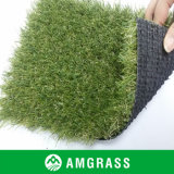 Olive Green and Beige Curly Artificial Grass and Lawn