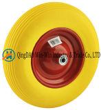 Colour PU Wheel with Steel /Plastic Rim (16*4.00-8)