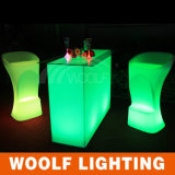 Cheap Lighted Rectangle Bar Cocktail Table