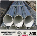 BS 1387 Grade B ERW Hot Dipped Galvanized Steel Pipe