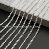 Ss28 Silver Plating Square Cup Chain Roll Rhinestone Chain