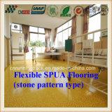 Environmental Health Flexible Spua Flooring of Stone Pattern Style