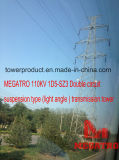 Megatro 110kv 1d5-Sz3 Double Circuit Suspension (light angle) Type Transmission Tower