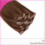 Indian Chocolate Brown Remy Clip in Hair