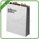Delicate White Paper Shopping Bag with Logo