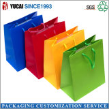Customized Glossy Lamination Colorful Art Paper Bags