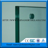 Flat Tempered Glass with Hole for Cladding