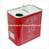 Metal Tin Can for 2 Liters Cooking Oil