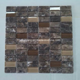 Brown Marble Stone Mosaic Tile for Decoration / Background Wall
