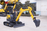 We161.6t Crawler Hydraulic Backhoe Mini Excavator with Canopy
