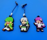 Promotional Japanese Cartoon Figure Soft PVC Mobile Phone Strap