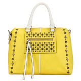 Attractive Stud Fashion Yellow Hollow out Ladies Bags (MBLX031043)