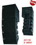 Dual 8 Inch Active Line Array Sound Equipment, Mini Line Array System