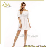 Ladies Dress Short Sleeve Tube with Pleated Skirt Casual Dresses