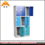 Nine Compartment 9 Doors Locker Metal Wardrobe