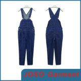 Girls Blue Jean Denim Jean Overalls (JC1104)