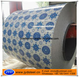 Color Paint Coating Galvanized Coil with Flower Design