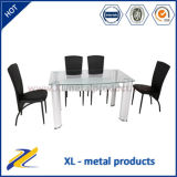 Dubai Style Glass Metal Dining Furniture/Dining Table