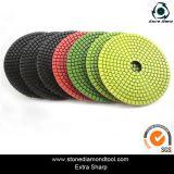 7-Step Diamond Colorful Pane Flexible Wet Polishing Pads