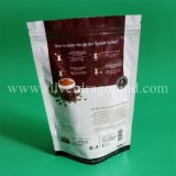 Custom Printed Stand up Coffee Pouch with Valve and Zipper