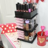 Acrylic Spinning Lipstick Tower, Rotating Acrylic Lipstick Organizer Holder