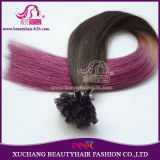 Ombre Hair Extension Clip in / Two Tone Colored Ombre Keratin Nail U Tip Hair Extension