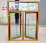 As2047 Standard Teak Wood Aluminium Window, Solid Teak Wood Window for high-End Villa, Multiple Wood Color Aluminum Casement Window