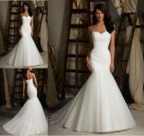 2014 Sexy Mermaid Simple Bridal Wedding Dress (EDW002)