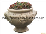 Carved Sandstone Garden Flower Pot