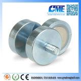 D32mm 22kg External Thread Neodymium Magnet Cup