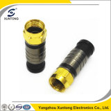 Waterproof RG6 F Compression Connector with Gold Plating