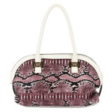 Fashion Designer Snake Skin Leather Woman Handbags (MBNO032073)
