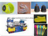 Double Station Vacuum Pump Rubber Silicone Vulcanizing Machinery Made in China