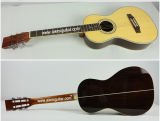 Aiersi Solid Top Parlor Style Wooden Acoutic Traveler Guitar