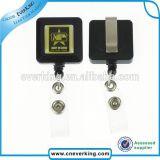 Customized Design Plastic Square Retractable Badge Reels