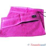 100% Cotton Gym Towel with Zipper Pocket