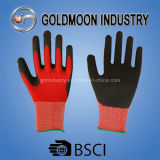 13G Polyester Lining with Black Latex Coated Safety Work Glove