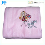 100%Polyester Polar Fleece Coral Fleece Promotional Embroidery Blanket