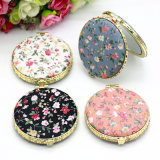Promotional Mini Small Cloth Mirror Double Sided Folding Makeup Pocket Mirrors