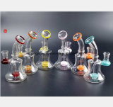 6.69 Inch Glass Water Pipe of Stained Glass Filter Oil Recovery