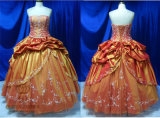 High Quality Embroidery Taffeta Prom Dress