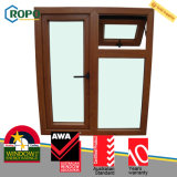 Wooden Colour UPVC Plastic Swing out Windows Australian As2047