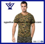 Mens Casual Camo Military Quick Dry Crew Neck T- Shirt (SYSG-255)