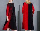 Ladies Winter Coat with Gradual Change Color Long Coat