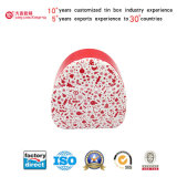 Cosmetic Red Tin Can with Circle Triangle Shape (T003-V5)