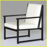 China Wooden Microfiber Leather Dining Arm Chair for Cafe Sofa Furniture