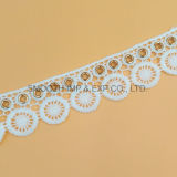 Fashion Embroidery Lace Eyelet Clothing Textile Accessories Water Soluble Fabric