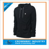 Wholesale Plain Black Zip up Hoodie for Man